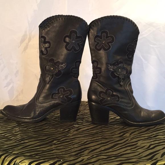 Black Cowboys Boots